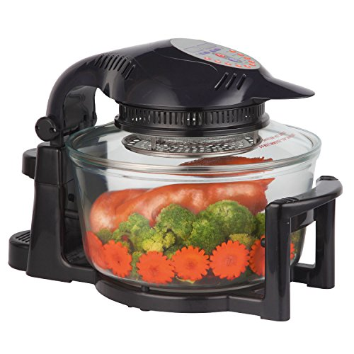 Sentik Digital Halogen Oven Cooker With Hinged Lid 12L 1400W