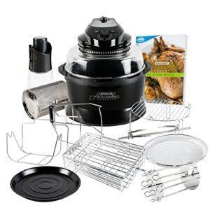 JML Black Halowave Oven Aircooker Deluxe Halogen Cooker