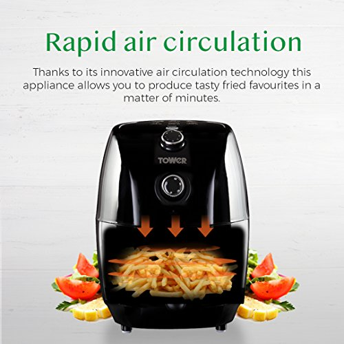 Tower Air Fryer with Rapid Air Circulation System