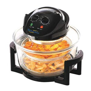 New Large 17 Litre Black Premium Convection Halogen Oven Cooker
