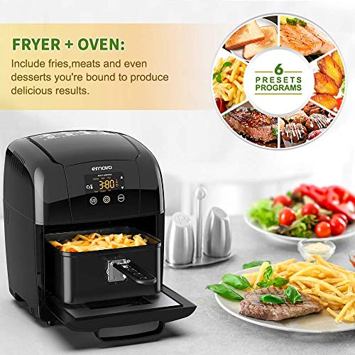 Ernovo Air Fryer 3.5/5.5L Electric Hot Air Fryer Oven 1400w