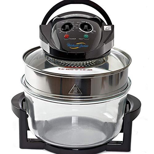 New Large 17 Litre Black Premium Convection Halogen Oven Cooker