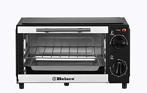 Belaco BTO-109N Mini 9L Toaster Oven Tabletop Cooking Baking Portable Oven 750w 60 min Timer 100-230° Stainless Steel…