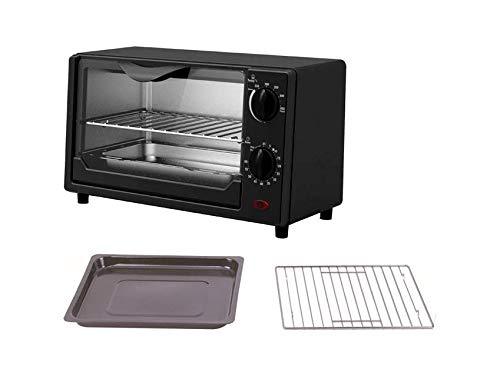 Belaco Mini 9L Toaster Oven Tabletop Cooking Baking Portable Oven 650w 100-250° Stainless Steel Heating Tube incl…